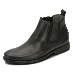 Bota ultra conforto couro cor preto