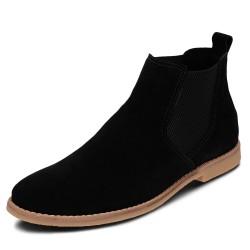 Bota Chelsea conforto couro cor preto